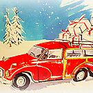 Morris Minor Xmas delivery by ©The Creative  Minds