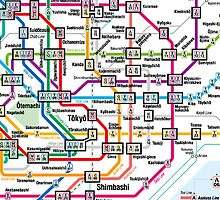 Tokyo Metro Map by MrYum