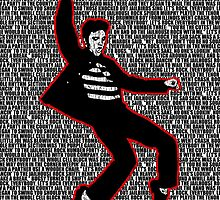 Elvis Presley - Jailhouse Rock - Lyrics - Pop Art by wcsmack