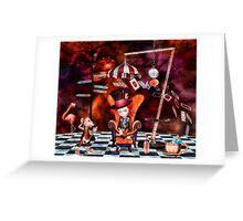 Madness in the Hatter's Realm Greeting Card