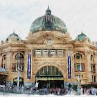 Flinders Street Station #2 by Lynda Heins