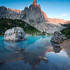 Sunrise over Sorapis lake in the Dolomites by Matteo Colombo