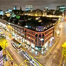 Bright lights of Manchester, tilt and shift. by Stephen Knowles