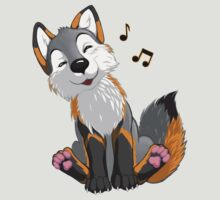 Singing, swinging Greyfox by EosFoxx