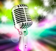 microphone on stage by naphotos
