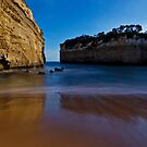 Loch Ard Gorge Beach in Moonlight by pablosvista2