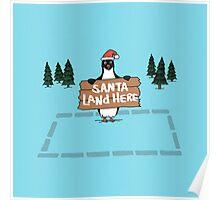 Christmas Penguin Poster