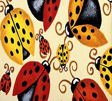 LADY BUGS IPHONE COVER by Lisa Frances Judd~QuirkyHappyArt
