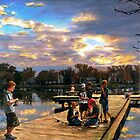 Boys On The Dock by Randy Sprout