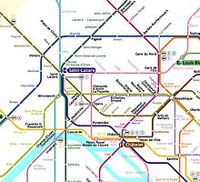Paris Metro map by MrYum