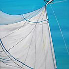 Sailboat sail Amel 2 Oil on Canvas Painting by SlavicaB