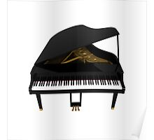 Grand Piano: Black Finish Poster