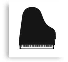 Grand Piano: Black Finish Canvas Print