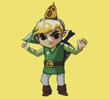 Windwaker Link covered in seagull poo! Kids Clothes