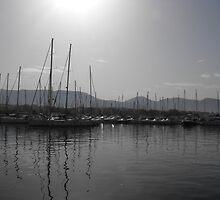 Athens port at dusk, Greece by SlavicaB