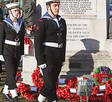 Royal Navy cadets at the Remembrance Service In Orpington Kent by Keith Larby