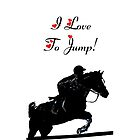 I Love To Jump! Horse iPod &amp; iPhone Cases by Patricia Barmatz