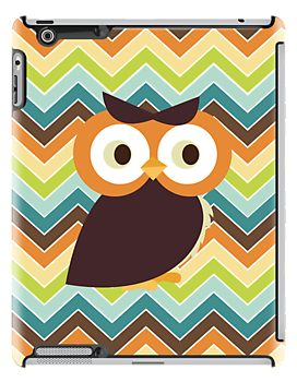 Owl {chevron} iPad Case by sweettoothliz