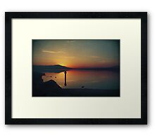 The End of Another Day Without You Framed Print