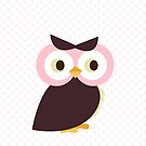 Owl {polka dots} iPhone Case by sweettoothliz