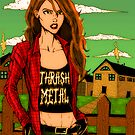 Southern Thrash Metal Chick by Luke Kegley