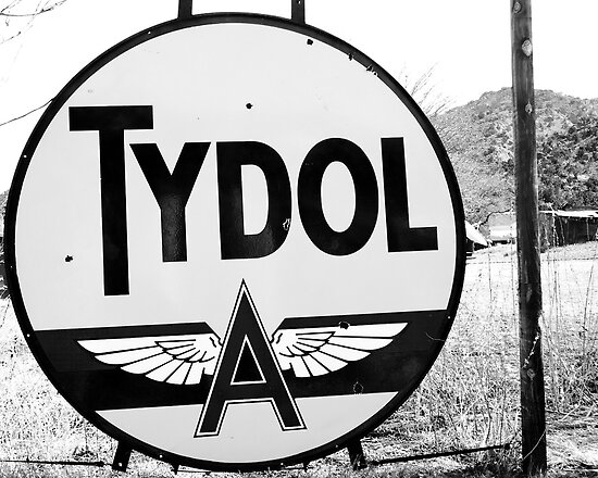 Tydol Oil, black and white by Jeff Chavez