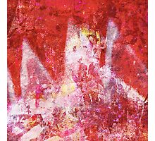 Red graffiti Photographic Print