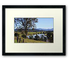 tweed valley ... Framed Print