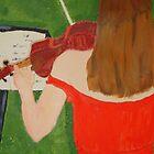 Scarlet Violinist by Bronwyn Blair