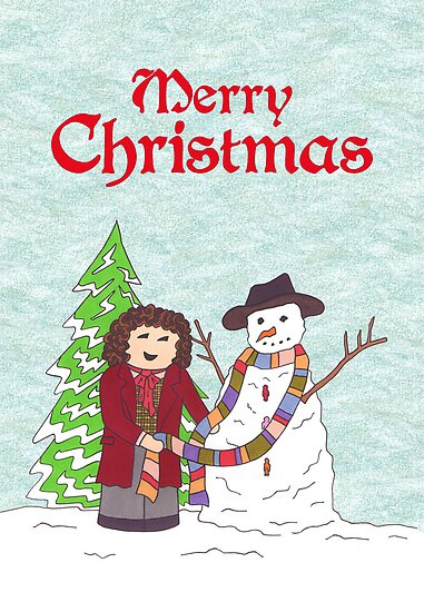 4th Doctor and Snowman by HappyDoctors
