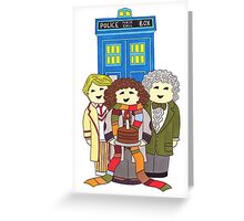 Doctor Who Birthday Card (Classic Doctors) Greeting Card