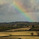 Rainbow Over Fields by Brian Roscorla