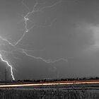 Lightning Thunderstorm DragOn BW by Bo Insogna