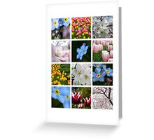 Spring Flowers Montage 1 Greeting Card
