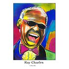 Ray Charles  by StevieRiksArt