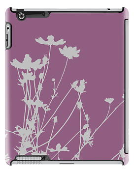 Purple and Grey Wildflower Silhouette by runninragged