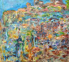 Escarpment, oil on canvas by Regina Valluzzi