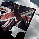 English Flag - London by A.David Holloway
