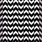 Black and white zig zag illusion by Confundo