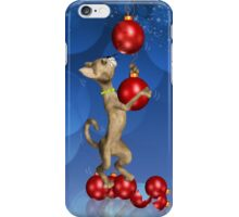 Dangling Holiday Cat iPhone Case iPhone Case/Skin