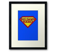 Big Damn Hero - Distressed  Framed Print