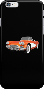 Orange 1961 Corvette C1 by bradyarnold