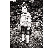 Proud Wee Lassie Photographic Print