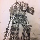 Grey Knight pencil sketch by Andrew Pearce