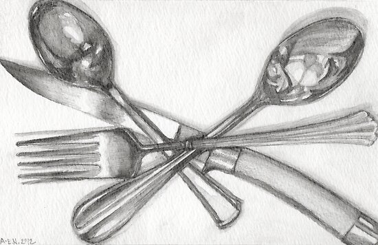 Washed Flatware by Amy-Elyse Neer