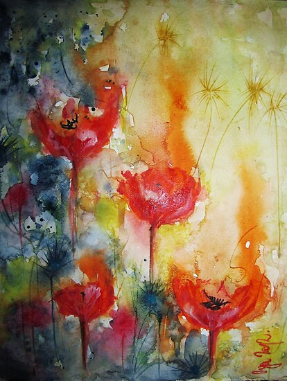 """Poppies in the sun"" by Oya Noya"