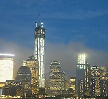 The New World Trade Center at Night, Lower Manhattan, New York City by lenspiro