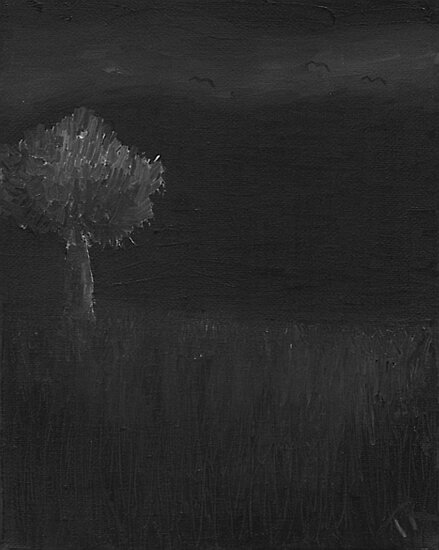Field at Night with Bats by Thomas Robertson II