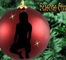✾◕‿◕✾ CHRISTMAS BULB GIRL SILHOUETTE SEASONS GREETINGS ❀◕‿◕❀ by ✿✿ Bonita ✿✿ ђєℓℓσ