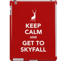 Keep Calm and Get To Skyfall iPad Case/Skin